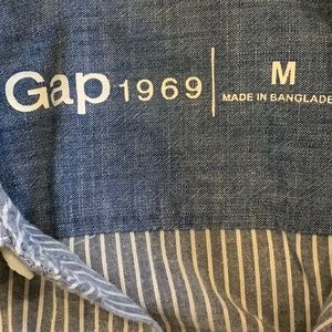 GAP Tops - Blue and White Gap striped, button down,  Medium